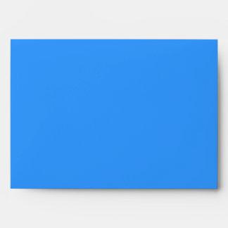 Thank You bright turquoise blue black Envelopes