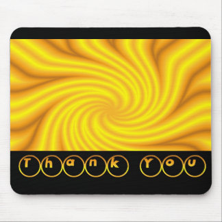 Thank You Bright Yellow Mouse Mats