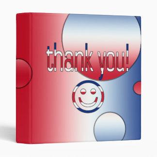 Thank You! Britain Flag Colors Pop Art Binder