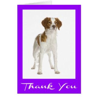 Thank You  Brittany Spaniel Puppy Dog Card