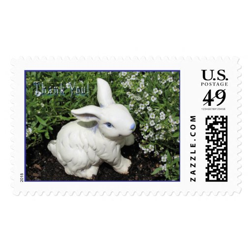 Thank you bunny! postage stamps