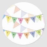 Thank You Bunting Banner Cupcake Topper Label Round Sticker