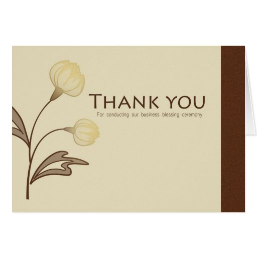 Thank you business blessing card