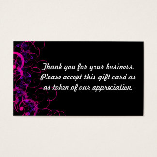 Thank you business card