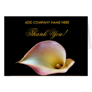Thank You - Business Card - Pink Calla Lily