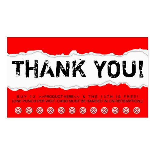 Thank you business card templates zazzle for Thank you card for business