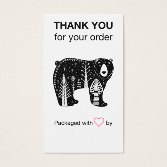 Thank You Business Cards Thank You For Order