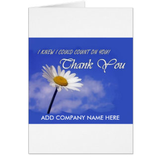 Thank You / Business - Pretty Daisy floating Card