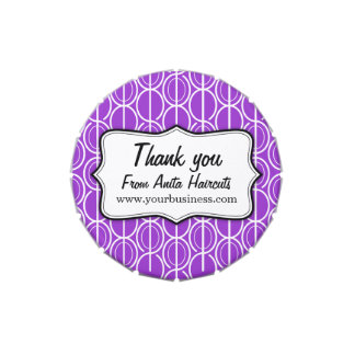 Thank you business purple promo candy tin