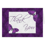 Thank You Butterfly Brocade Purple Cards