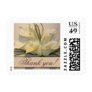 Thank you Calla Lily  Postage Stamps