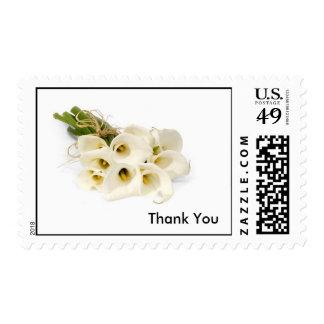 Thank You calla stamp