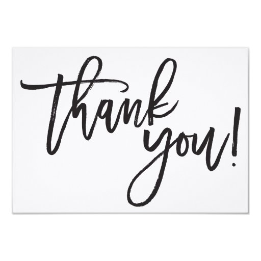 Thank You Calligraphy Card Zazzle
