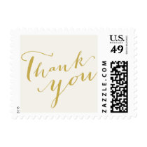 Thank You Calligraphy Simple Script Wedding Stamps