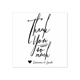 Thank You Calligraphy Wedding Favor Stamp