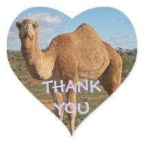THANK YOU CAMEL HEART STICKER