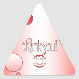 Thank You! Canada Flag Colors Pop Art Triangle Sticker
