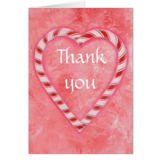 Thank you, Candy Cane Heart, wedding cards