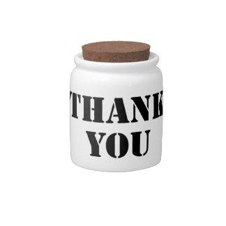 Thank You Candy Jar