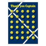 Thank you Captain personalized Greeting Card