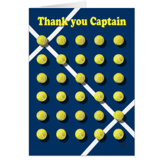 Thank you Captain, tennis Greeting Cards