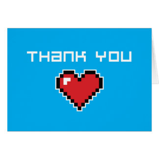 Thank You Card - 8 Bit Cards