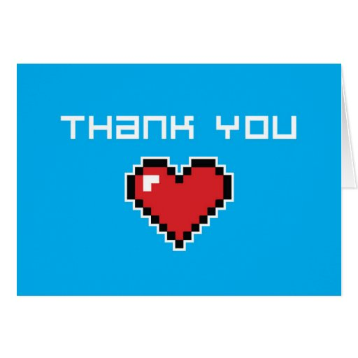 Thank You Card - 8 Bit Cards