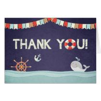 Thank you card Ahoy it's a boy nautical Ocean