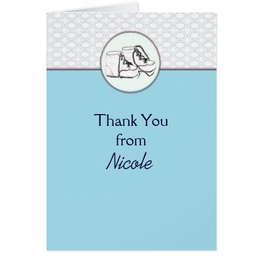 Vintage Baby Shower Thank You Cards: Thank You Card Baby Shower Vintage Baby Shoes