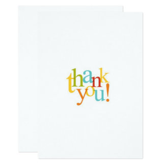 Thank You Card - Blank