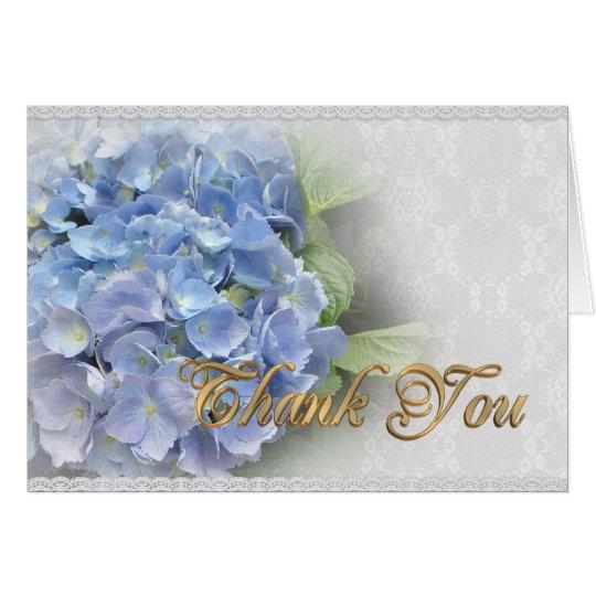 Thank you card Blue Hydrangeas