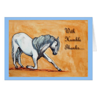 Thank you card Bowing horse