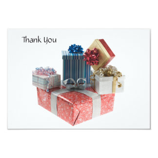 Thank you Card Boxes of Gifts Personalized Invite