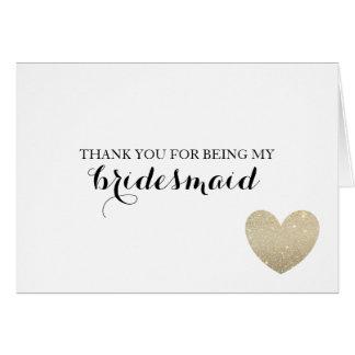 Thank You Card - Bridal Heart