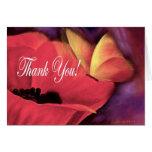 Thank You Card Butterfly Poppy - Multi