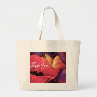 Thank You Card Butterfly Poppy - Multi Canvas Bag