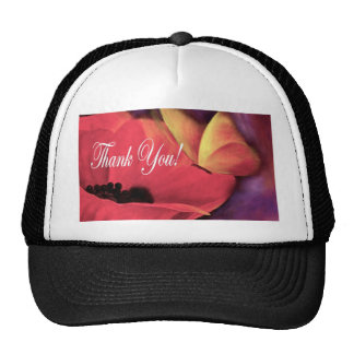 Thank You Card Butterfly Poppy - Multi Hats