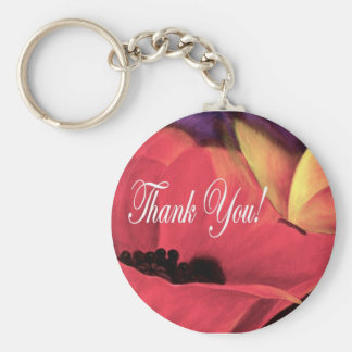 Thank You Card Butterfly Poppy - Multi Key Chains