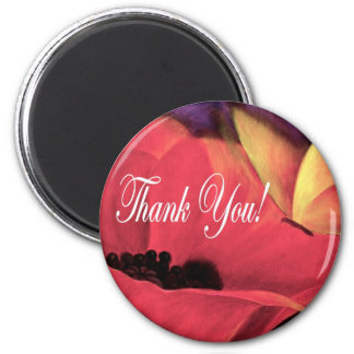 Thank You Card Butterfly Poppy - Multi Magnet