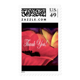 Thank You Card Butterfly Poppy - Multi Stamps