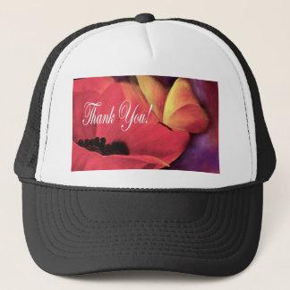 Thank You Card Butterfly Poppy - Multi Trucker Hat