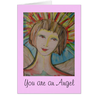 """Thank you card by ValAries """"You are an Angel"""""""