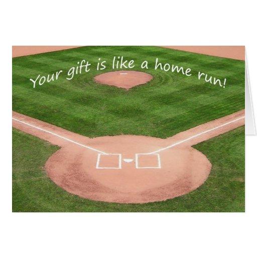 Thank You Card - Child's Baseball Design