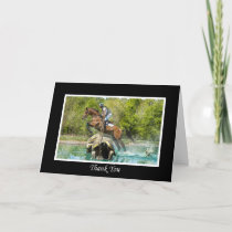 Thank you Card, Cross Country Equestrian Eventing