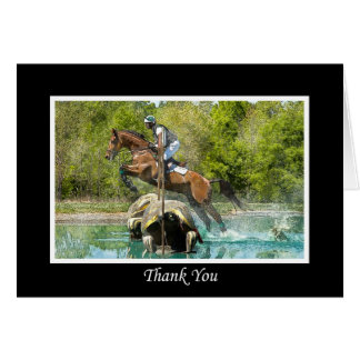 Thank you Card, Cross Country Equestrian Eventing Card