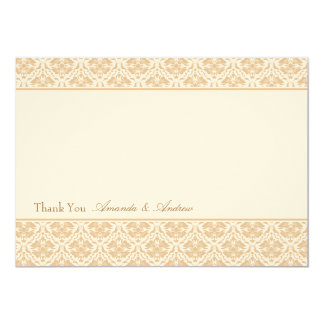 Thank you card - Damask Stripe 1