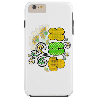 """""""Thank you"""" card, doodle drawing design, spring Tough iPhone 6 Plus Case"""