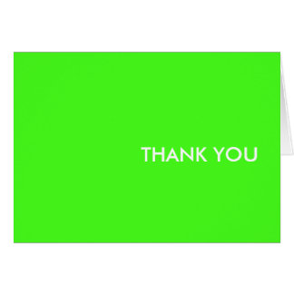 "thank you card--""electric lime"" card"