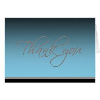 Thank you card - Elegant Glow