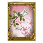 Thank You Card Elite Pink White Rose Gold